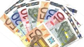 De euro waaier van het detail Royalty-vrije Stock Foto's