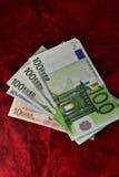 De euro zijn als een ventilator op het suède Stock Fotografie