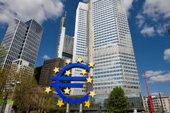 De Europese Centrale Bank in Frankfurt Stock Afbeelding