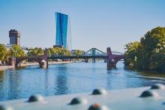 De Europese Centrale Bankbouw in Frankfurt, Duitsland stock afbeelding