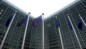 De Europese Commissie in Brussel Stock Foto