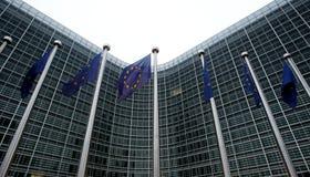 De Europese Commissie in Brussel Stock Foto