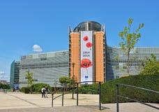 De Europese Commissie hoofdkwartier Royalty-vrije Stock Foto's