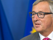 De Europese Commissie President Jean-Claude Juncker Stock Afbeelding