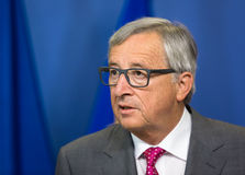 De Europese Commissie President Jean-Claude Juncker Royalty-vrije Stock Foto's