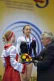 5de Europese Kampioenschappen in Artistieke Gymnastiek Stock Foto