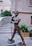 De Europese karakters bronzen standbeeld in Shanghai Stock Foto