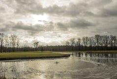 De Europese landschap en aardlente Stock Afbeelding
