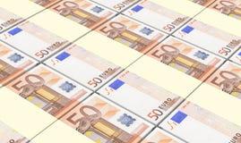 De Europese munt factureert stapelsachtergrond Royalty-vrije Stock Afbeelding