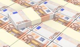 De Europese munt factureert stapelsachtergrond Stock Foto