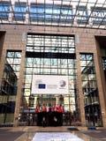 De Europese Raad de bouw in Brussel Stock Foto