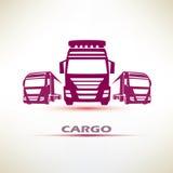 De Europese reeks van het vrachtwagenssymbool vector illustratie