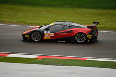 De Europese Reeks van Le Mans Ferrari F458 Italië GT3 in Imola Stock Foto's