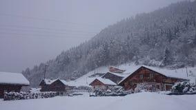 De Europese Toevlucht van de Ski Royalty-vrije Stock Afbeeldingen