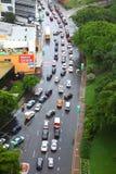 De evacuatie van de Vloed van Brisbane van het Centrum van de Stad Royalty-vrije Stock Foto's