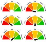 De evaluatie van het resultaat Stock Foto