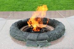 De eviga flammabrännskadorna Arkivbild