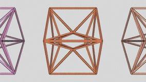 De Evoluerende Lijn van de octaëderstructuur vector illustratie
