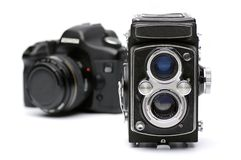 De evolutie van camera's Royalty-vrije Stock Afbeeldingen
