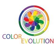 De evolutieembleem van de kleur vector illustratie
