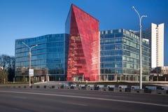 De ex bouw van het Witrussische Potasbedrijf, nu de Bank van de bureauontwikkeling, Minsk Wit-Rusland stock afbeelding