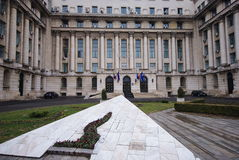 De ex centrale commissiebouw in Boekarest, Romani Royalty-vrije Stock Afbeeldingen