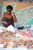 De exotische goederen van de markt Stock Fotografie