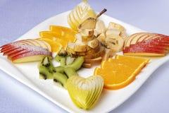 De exotische vruchten, juiste voeding voor verliezen gewicht, omhoog sluiten stock foto's