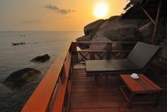 De exotische Zonsondergang van het Strand royalty-vrije stock fotografie