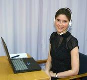 De exploitant van de helpdesk Stock Fotografie
