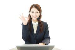 De exploitant van de klantendiensten Stock Foto