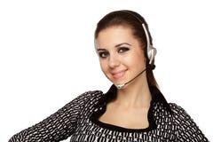 De exploitant van de klantenondersteuningsdienst Stock Foto's