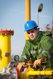 De Exploitant van de Productie van het gas royalty-vrije stock afbeeldingen