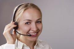 De Exploitant van het Call centre Stock Afbeelding
