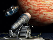 De Exploratie van Ruimte vector illustratie