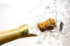 De explosie van Champagne Stock Afbeeldingen