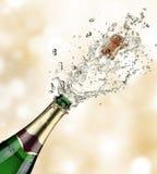 De explosie van Champagne stock foto