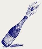 De explosie van Champagne Stock Foto's