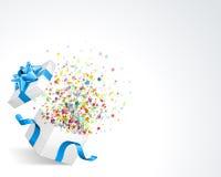 De Explosie van de Confettien van de ster Stock Foto