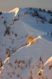 De explosie van de de patrouillelawine van de ski royalty-vrije stock afbeeldingen