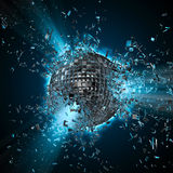 De explosie van de discoplaneet royalty-vrije illustratie