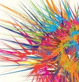 De explosie van de kleur royalty-vrije illustratie