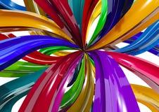 De explosie van de kleur Stock Foto