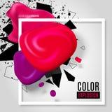 De explosie van de kleur Stock Foto's