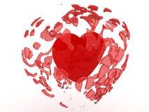 De explosie van de liefde royalty-vrije illustratie