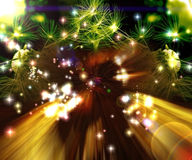 De explosie van de ster Stock Foto