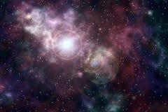 De explosie van de supernova Stock Foto