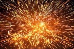 De explosie van de vonk royalty-vrije stock afbeeldingen
