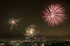 De explosie van de vuurwerkvertoning royalty-vrije stock afbeelding