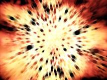 De explosie van de vuurzee met veel zwarte deeltjes Vector Illustratie